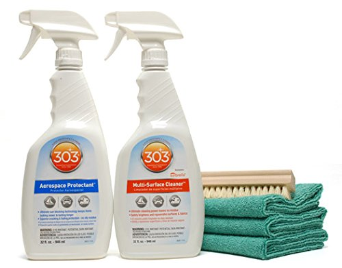 303 Aerospace Protectant & Cleaner Combo - Clean & Protect Vinyl, Rubber & Leather