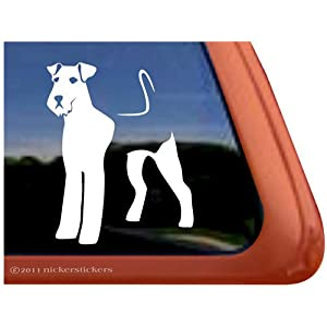 Airedale Terrier Dog Vinyl Window Auto Decal Sticker 9