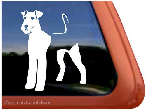 - Airedale Terrier Dog Vinyl Window Auto Decal Sticker