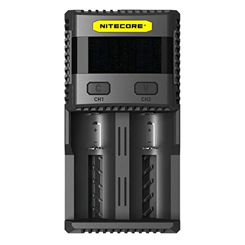 Nitecore Super Charger SC2,Fast Battery Quick Charger Bundle Selectable 3A Charging Speed for AA, AAA, AAAA, C, D Li-ion/IMR/LiFePO4 EB182 Battery Organizer and more Battery (Aaa Speed Charger)