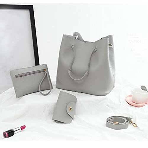 Pattern Clearance Bag Leather Package Women Crossbody 4Pcs Gray Card Handbag Messenger Sunday77 Sale Bag RFwqdIxUI