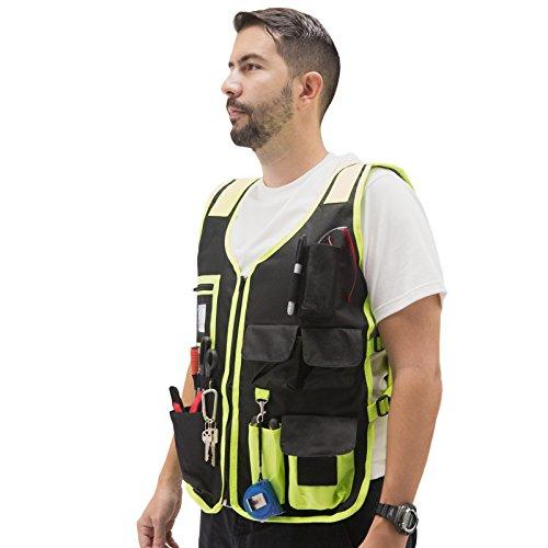 JORESTECH High Visibility Tool Vest with reflective strips (Green) by JORESTECH