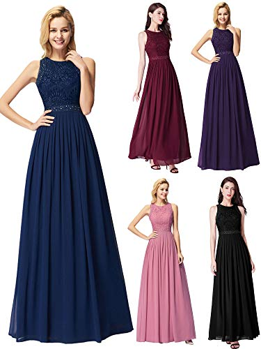 Ever-Pretty Women's A-Line Wedding Party Bridesmaid Dress Navy US6