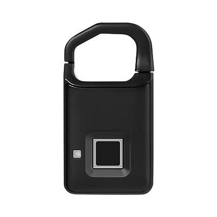 BEANDENG Cerradura de Huellas Dactilares USB Recargable ...