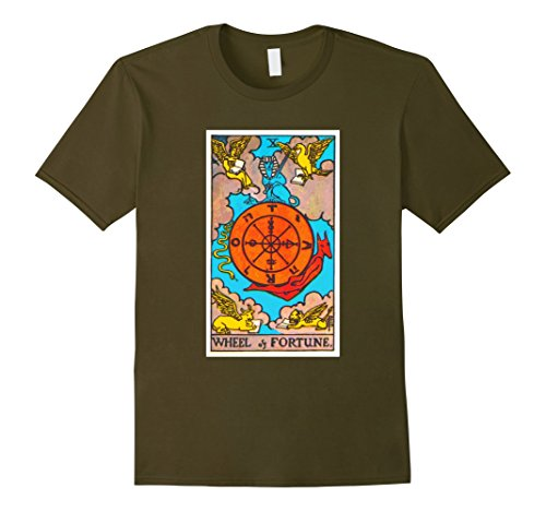 Men's Wheel of Fortune Tarot Card T-Shirt Tee Shirt Mediu...