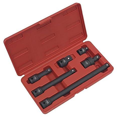 250mm 75 BAKING TOOLS 4pc Air Impact Extension Bar Garage Tool Set 1//2 inch Drive 50 125
