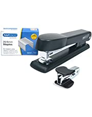 Rapesco 1471 Marlin Stapler with Staple Remover and 26/6 mm Staples B/5000, Black - Bundle