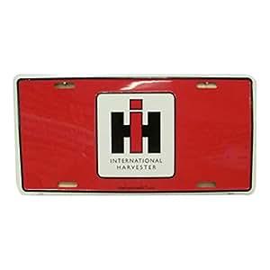 LP - 1219 International Harvester - RED - License Plate - 2712