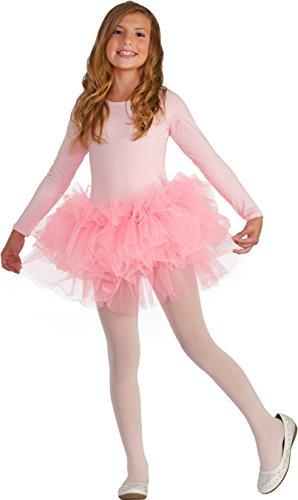 Forum Novelties Kids Fluffy Tutu Costume, Pink, One Size (Swan Ballet Costume)