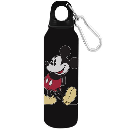Disney 1928 Original Mickey Mouse Aluminum Water Bottle - Wide Mouth, Black