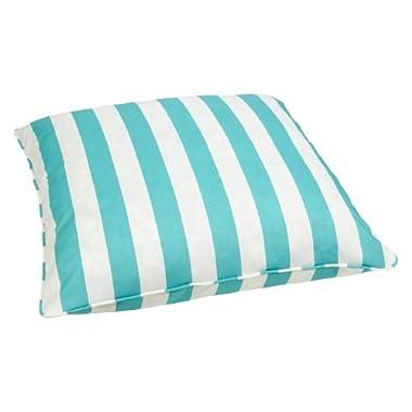 Mozaic Sabrina Corded Indoor/Outdoor 28-Inch Floor Pillow, Large, Aqua Stripe