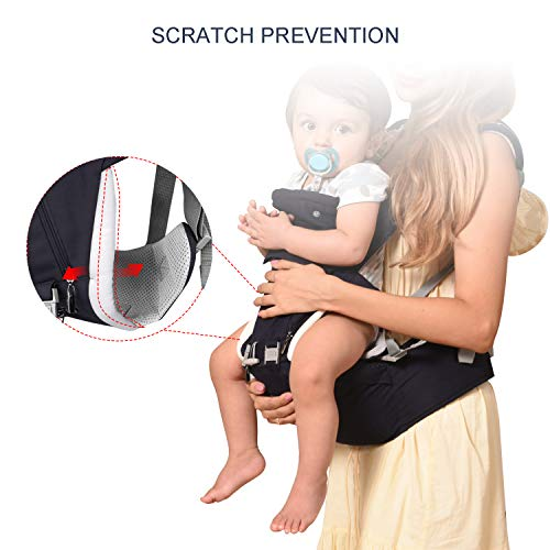 Bable Baby Carrier with Hip Seat, 360 Ergonomic Baby Carrier, Toddler Tush Stool for All Seasons, Soft Baby Sling No Infant Insert Needed - Adapt to Newborn, Infant Hiking Backpack Carrier by BABLE (Image #2)