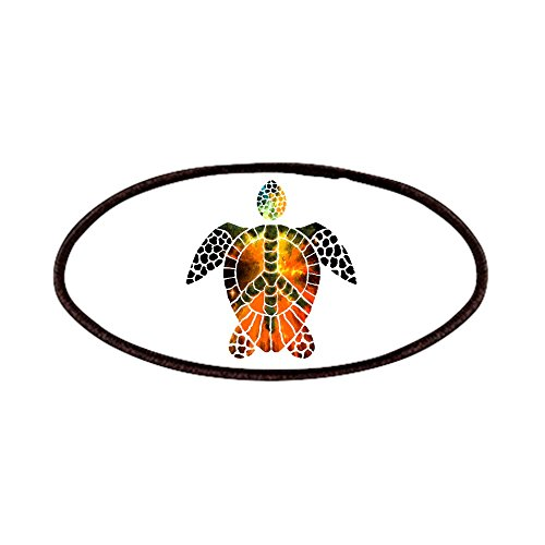 CafePress - Sea Turtle-3 Patches - Patch, 4x2in Printed Novelty Applique Patch