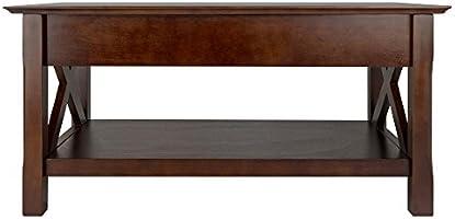 Amazon Com Winsome Wood Xola Occasional Table Cappuccino Finish Furniture Decor