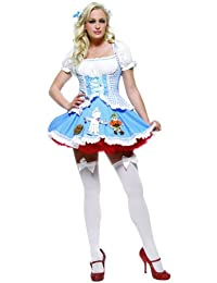 Sexy 2Pc Miss Dorothy Wizard Of Oz Halloween Costume
