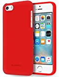 5s cases jelly - Free Screen Protector, iPhone 5S Case [Silky] GOOSPERY Soft Feeling Marlang Jelly [Slim Fit] Flexible TPU Cover for Apple iPhoneSE / 5S / 5 - Red, IP5-SFJEL/SP-RED