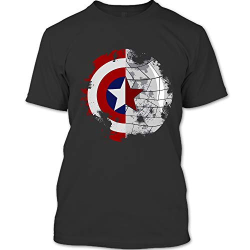 Captain America Civil War T Shirt, Captain America Winter Soldier T Shirt Unisex (XL,Black)]()
