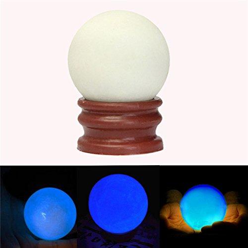 Luminous Pearl Glow In The Dark Stone Luminous Quartz Crystal Sphere Ball Night Pearl Glowing - Mall Crystal