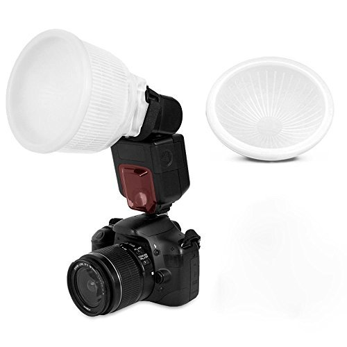 Flash Diffuser Kit - Leoie Fashion and Commercial Lighting Flash Modifying Kit Universal Cloud lambency flash diffuser White dome cover and fits all flashes like Canon Nikon Sony