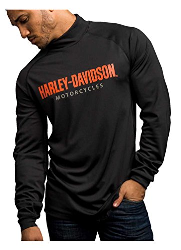 Harley-Davidson Men's Turn To Victory Performance Mock Neck Shirt 5P34-HB4L (L)