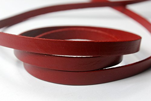 Leather Hawthorn - 10mm Leather Strip Leather Band,10mmx2mm Genuine Flat Leather Strap Cord (Hawthorn)