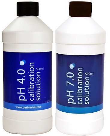 Bluelab pH 4.0 Calibration Solution 500 ml, pH 7.0 Calibration Solution 500 ml