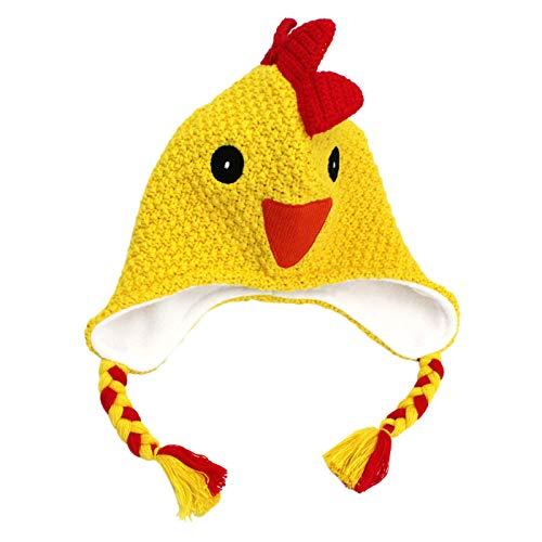LANGZHEN Kids Autumn and Winter Warm Earmuffs Hat Cute Animals Pattern Tassel Ribbon 1-5T
