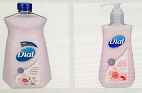 Dial Liquid Hand Soap with Moisturizer, Cherry Blossom & Almond, 7.5 Oz + Dial Cherry Blossom & Almond Refill Hand Soap 52 Oz (Dial Cherry Almond Soap compare prices)