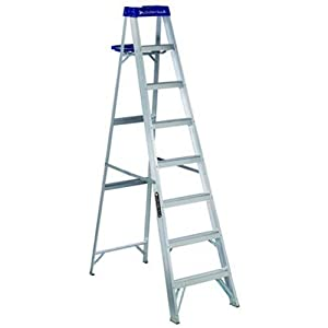 Louisville Ladder AS2108 250-Pound Duty Rating Aluminum Stepladder, 8-Feet