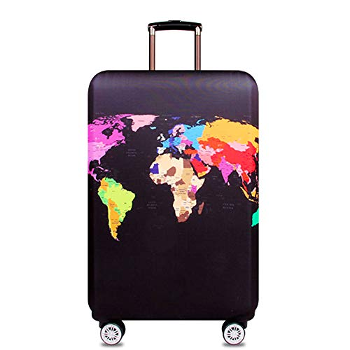 Youth Union Travel Luggage Cover Baggage Suitcase Protector Fit for 18-32 Inch Luggage (M(22-24 inch luggage), Map 2) ()