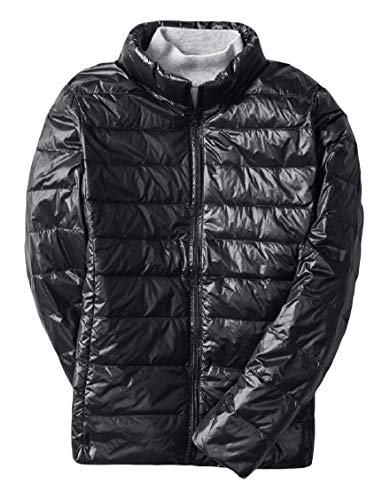 Puffer Jackets Ultra Stand Men's Outwear Down Collar Black Style Short Energy Lightweight vT8ZW