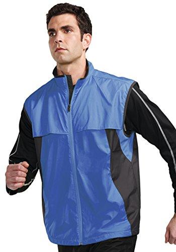 Tri-Mountain Men's Lightweight Reflective Trim Vest, IMPERIAL BLUE/CHARCOAL, S ()