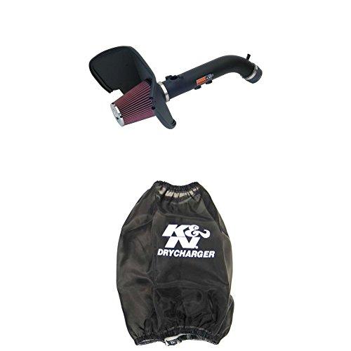 (K&N 57-9015-1 Performance Air Intake System with Black Air Filter Wrap)