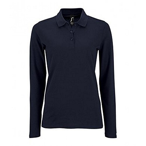 SOL'S Womens/Ladies Perfect Long Sleeve Pique Polo Shirt (XXL) (French Navy)