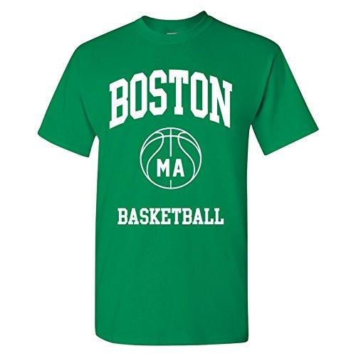 Boston Classic Basketball Arch Basic Cotton T-Shirt - X-Large - Green