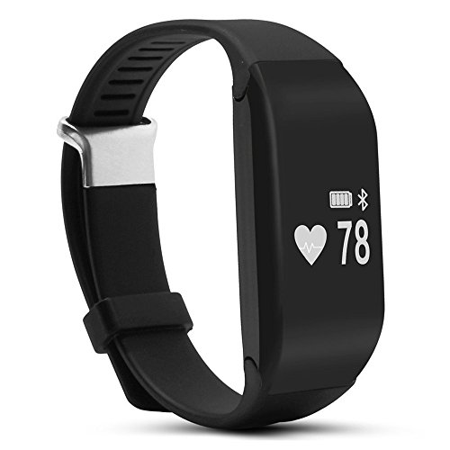 Price comparison product image H3 smart watch wristband - TOOGOO(R)H3 Bluetooth 4.0 IP67 waterproof OLED Display smart watch wristband Heart rate pedometer(Black)