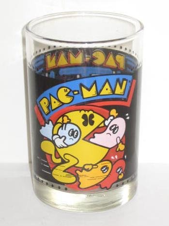 Vintage Arbys / Bally Midway 1980 PAC MAN Glass for sale  Delivered anywhere in USA