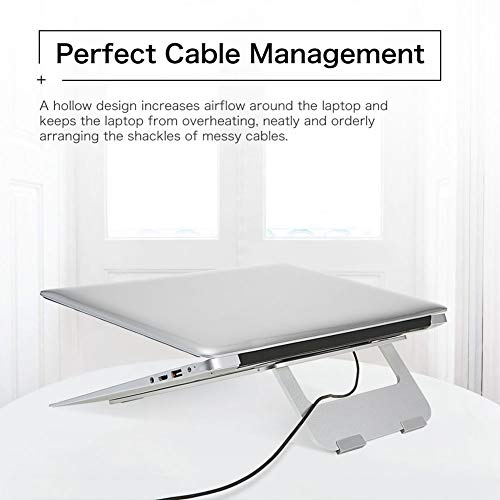 Efanr Aluminum Laptop Stand, Ergonomic Cooling Notebook Stand Desk Dock Holder Bracket Fits Up to 17 inch Laptops & Tablets by Efanr (Image #5)