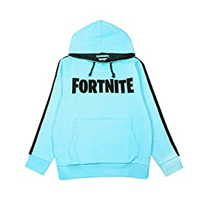 Fortnite Logo Jungen Blue Hoodie Battle Royale Kinder Hooded Sweatshirt
