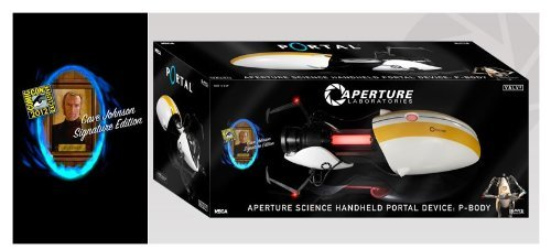 SDCC 2012 Cave Johnson Signature Edition Portal ASHPD Replicas: P-Body Portal Gun (Body Gun P Portal)
