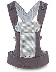 Beco Gemini bärsele – cool mörkgrå, snygg och enkel 5-i-1 ryggsäck stil sele för att hålla bebisar, spädbarn och barn från 3,2-15,9 kg certifierad ergonomisk