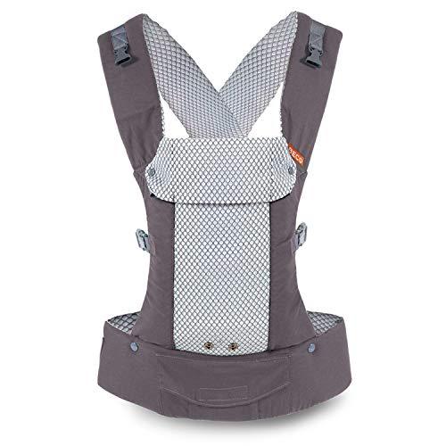 Beco Draagzak Baby Carrier zachte katoenen draagdoeken voor baby's en peuters (Cool Dark Grey)