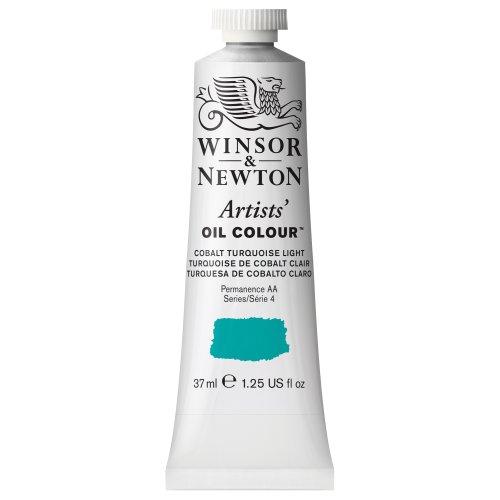 Winsor & Newton Artists Oil Color Paint, 37ml Tube, Cobalt Turquoise Light - Light Turquoise Color