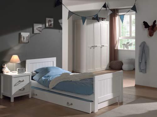 comprar marca LECO28 LECO28 LECO28 Vipack Lewis – Mueble de Dormitorio Madera blancoo 4 Piezas 145 x 59 x 200 cm  tienda