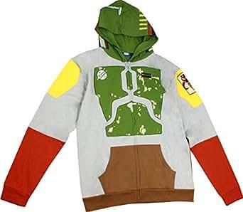 Star Wars Boba Fett Costume Zip Hoodie Size : Small