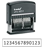 """Trodat .125"""" x 1.3"""" 13-Digit Self-Inking Numberer Rubber Stamp - Non Customizable"""