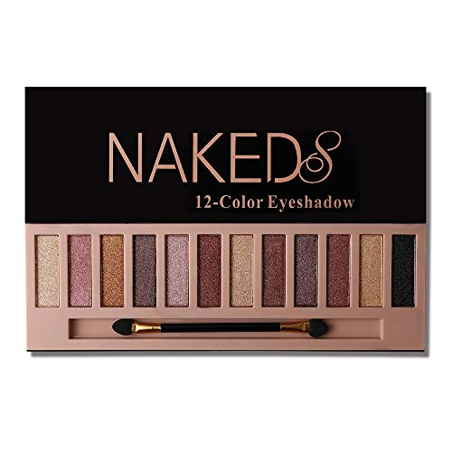 Wedding Color Palettes (Pro 12 Colors Naked Eyeshadow Makeup Palette - Shimmer Matte Pigmented Blendable Diamond Nude Natural Eye Shadow Pallet Kit with Brush)