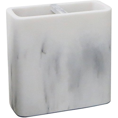 Better Homes and Gardens Marble Toothbrush Holder, White from Better Homes & Gardens