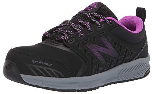 New Balance Women's 412v1 Work Industrial Shoe Black/Purple 8.5 D US