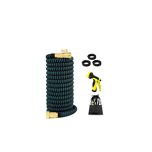 Easy-S-E-H Expandable Flexible Garden Water Hose High Pressure for Car Hose Pipe Plastic Hoses to Watering with Spray Gun,50Ft,European Version